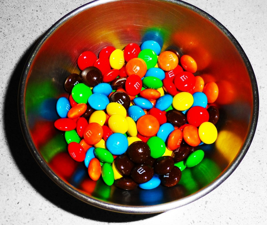 If your office candy dish is filled with M&Ms, you're an inspiration!